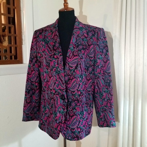 Henry Lee Jackets & Blazers - Vintage Henry Lee Abstract Blazer